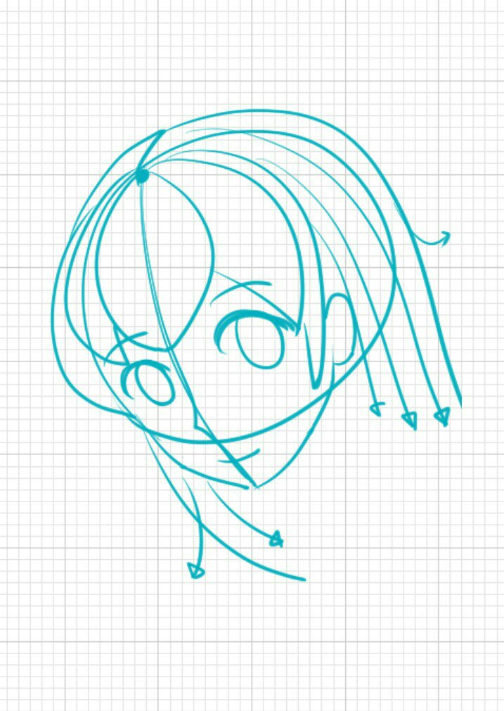 Step 9 on drawing anime girl