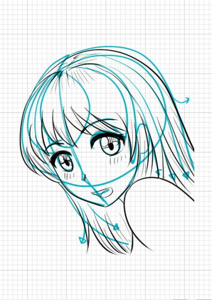 Drawing anime girl