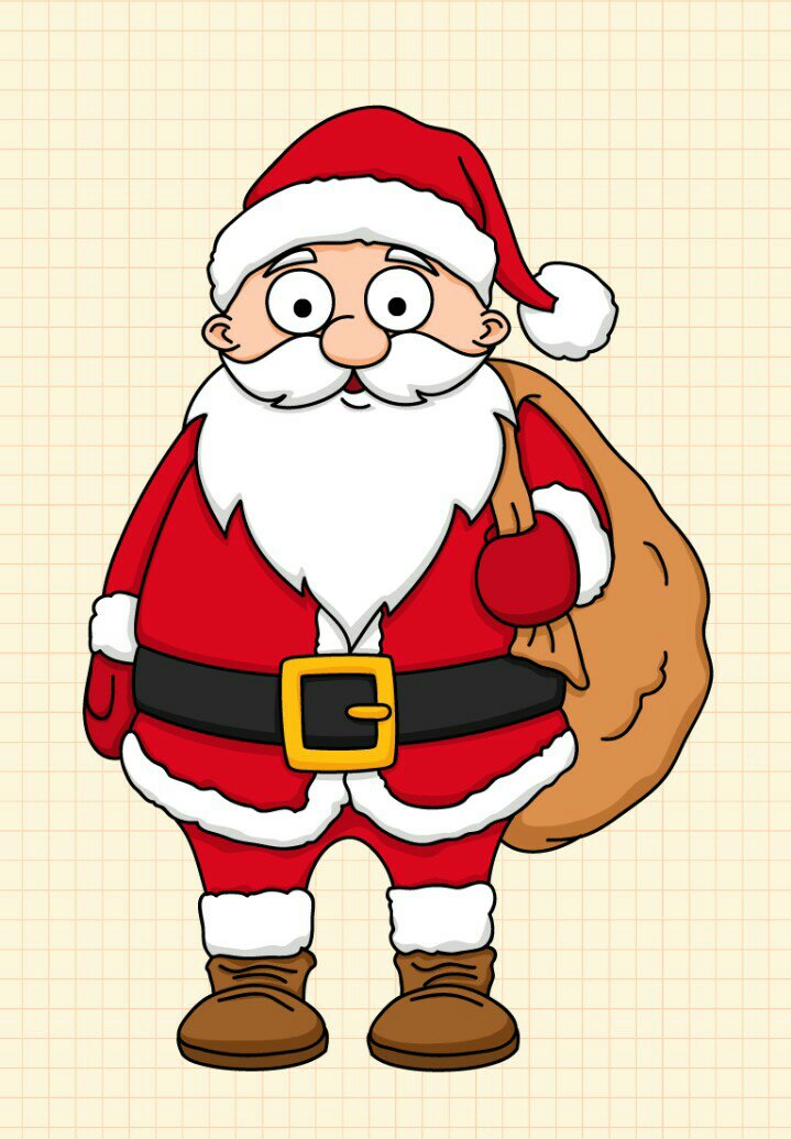 How to draw Santa Claus step 19
