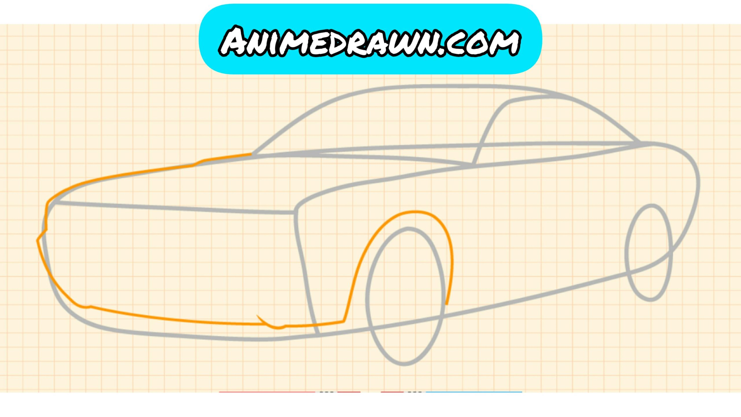 How to draw a car 3