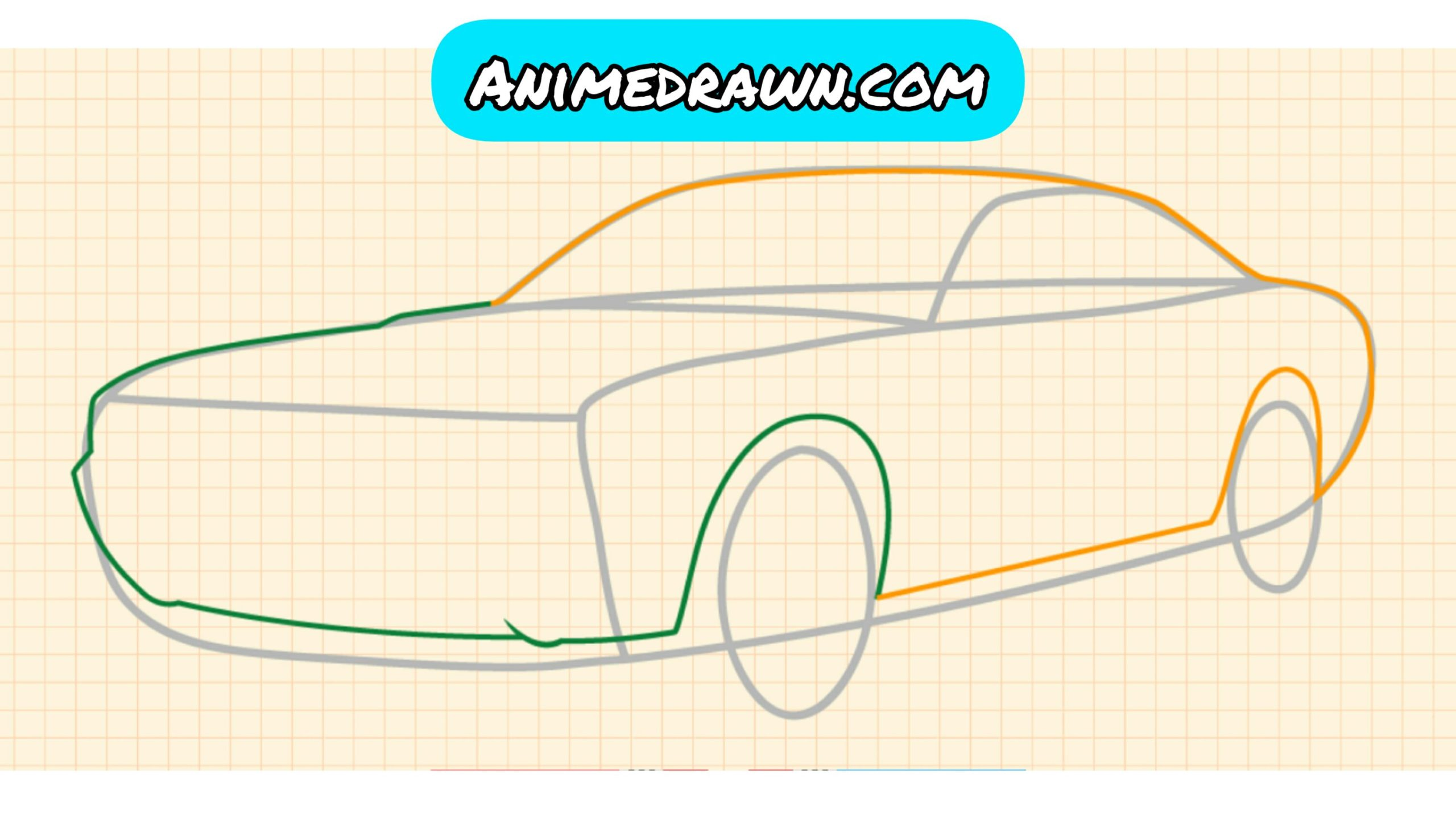 How to draw a car 4
