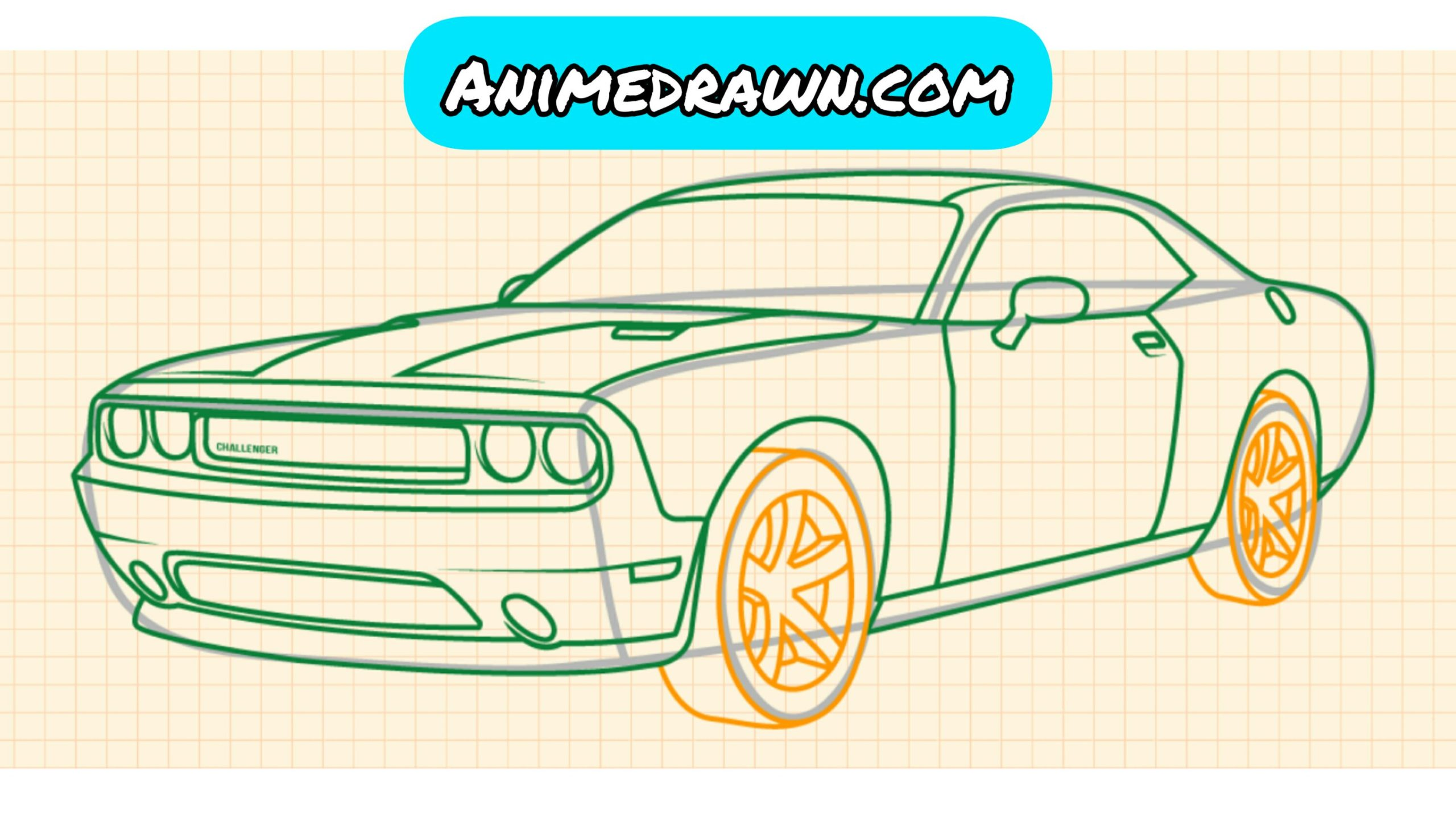 How to draw a car step by step