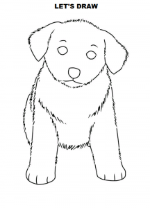 how to draw a dog standing up