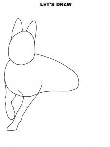 How to draw dog legs