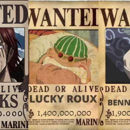 Shanks crews bounties