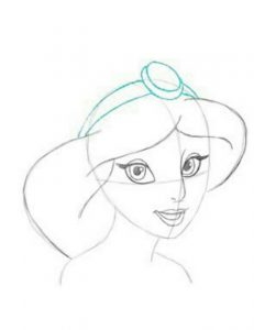 how to draw princesses jasmine step by step