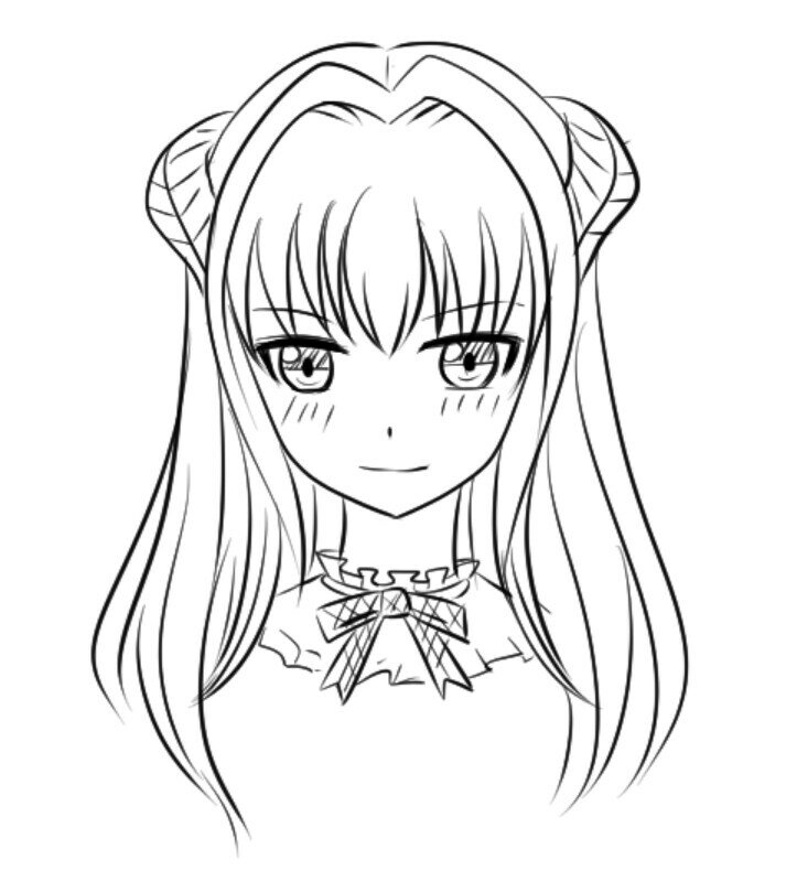 How to draw anime heads female?