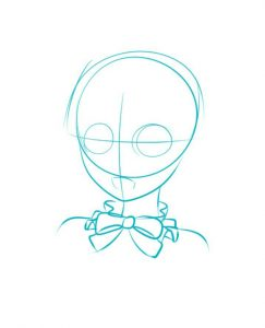 How to draw anime girl head